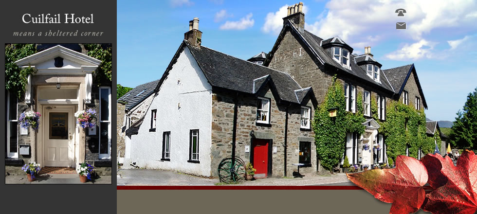 Cuilfail Hotel header photo. Telephone 01852200274 Email mail@cuilfail.com